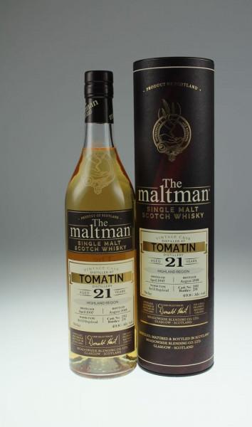 Maltman Tomatin, 1997, 21 years old, 49,8%, hogshead no. 2982