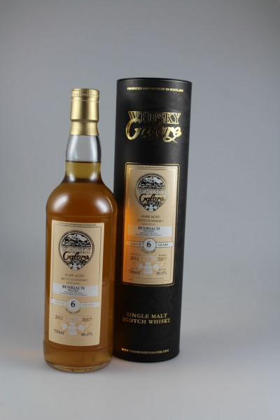 Duncan Taylor Whisky Galore Benriach peated 2011 2017 46,0 %Vol