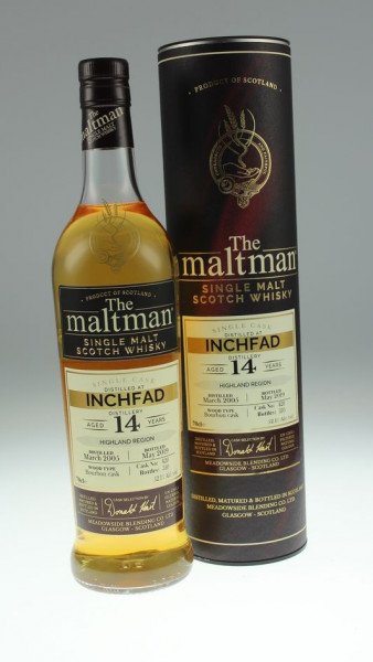 Maltman Inchfad, 2005, 14 years old, 52,1%, Bourbon cask no. 420