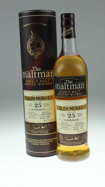Maltman Glen Moray, 1993, 25 years old, 48,7%, Bourbon barrel no. 3874