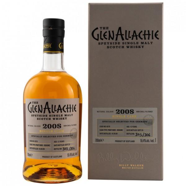 GlenAllachie 12y Pinot Noir Beaune 2008/2020 Single Casks 55,4 %Vol
