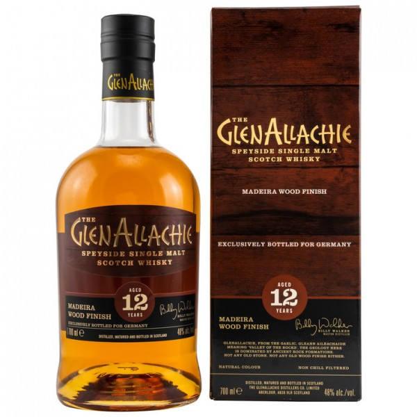 GlenAllachie 12 y Madeira Wood Finish 48 %Vol Exclusively bottled for Germany