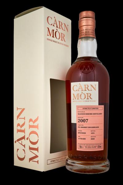 Carn Mor Mannochmore 2007 13 Years PX Sherry Hogshead Speyside 47,5%