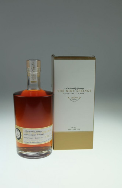 The Nine Springs Special Edition 5y 1989er Double Finish Marsala and Islay Cask - 46 %Vol 0,5l