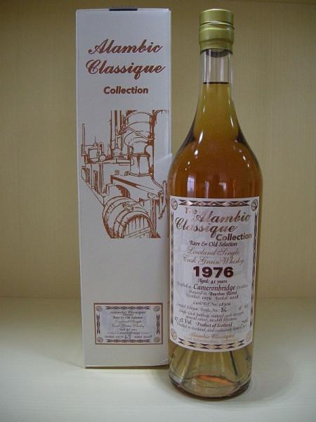 "ALAMBIC CLASSIQUE Cameronbridge ""Bourbon Barrel"" Jahrgang 1976, 41 years old, Lowland Single Cask Grain Whisky 47,3 %Vo"