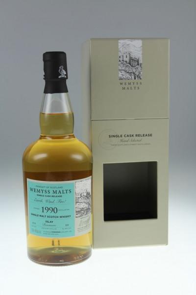 Wemyss Earth, Wind, Fire 1990, 28 years, 46%, Bourbon Hogshead, 200 bottles Distilled at Bowmore Distillery