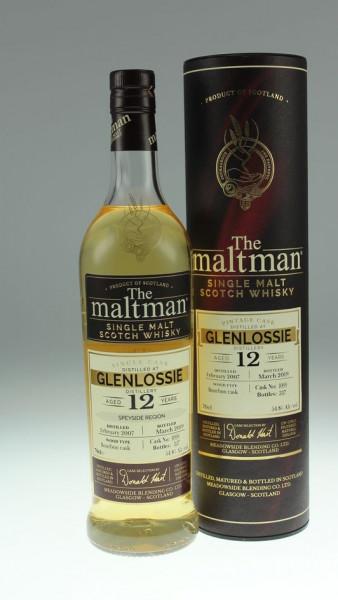 Maltman Glenlossie, 2007, 12 years old, 54,8%, Bourbon cask no. 1099