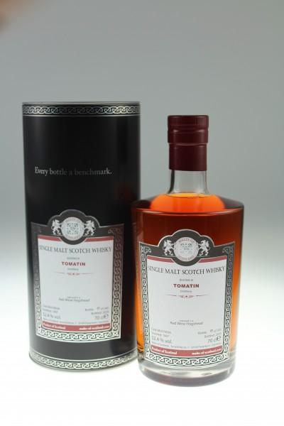 Malts of Scotland Tomatin 1997/2019 Red Wine Cask 52,4 %Vol Red Wine Hogshead