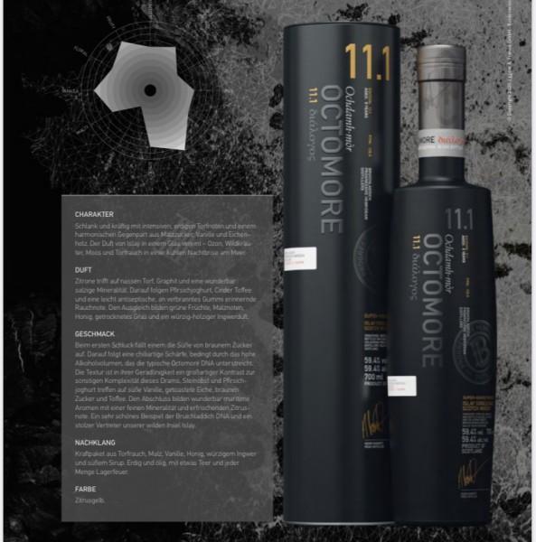 Octomore 11.1 5y Reifung auf Islay 59,4% %Vol 140 ppm 2014/2020 Scotisch Barley Optic 30000 Flaschen