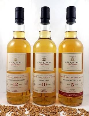 A.D.Rattray Isle of Islay 10 Jahre Destilliert: 11.12.2008 Abgefüllt: 27.09.2019 Bourbon Hogshead Fassnummer: 23 Alkohol: 57,4% vol. 336 Flaschen