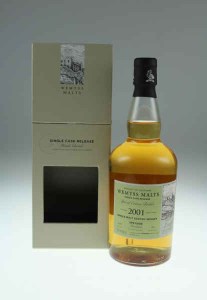 Wemyss Spiced Crème Brûlée 2001, 17 years 46%Vol 296 bottles Distilled at Mortlach Distillery (Whisky)