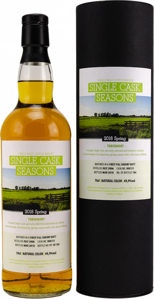 Tobermory 2006/2018 Signatory Single Cask Seasons Spring 11y 49,9 %Vol