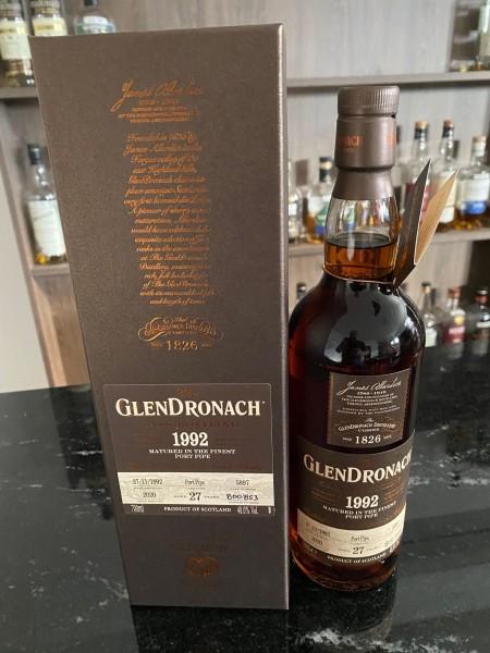 Glendronach 27y 27.11.1992 2020 Port Pipe 48 %Vol Cask 5897