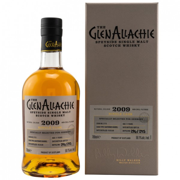 GlenAllachie 11y Sauternes Barrel 2009/2020 59,1 %Vol Selected for Germany