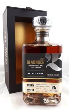 "Bladnoch ""Vibrant Stills"" Single Red Wine Cask 12 y 2008 56,1 %Vol Rotwein Vollreifung"