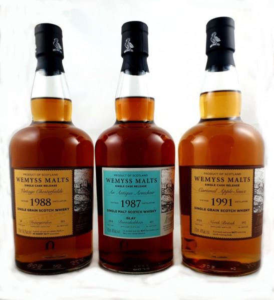 Wemyss North British Caramel Apple Sauce 1991 27 y 46 %Vol Sherry Butt 592 bottles