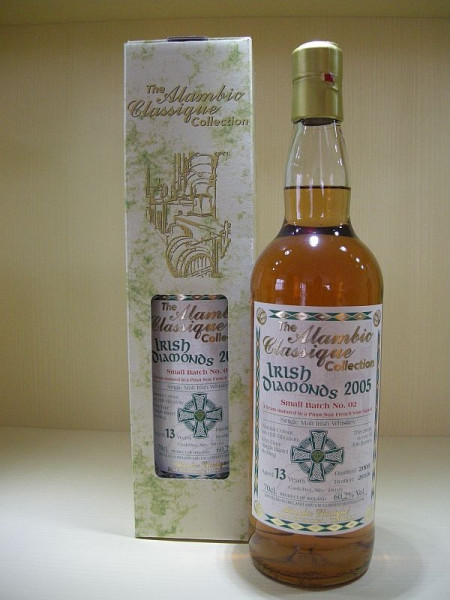 "Alambic Classique Irish Diamonds ""Batch No. 02"" ""Pinot Noir"" Jahrgang 2005, 13 y Irish Single Malt Whiskey 59,3 %Vol"