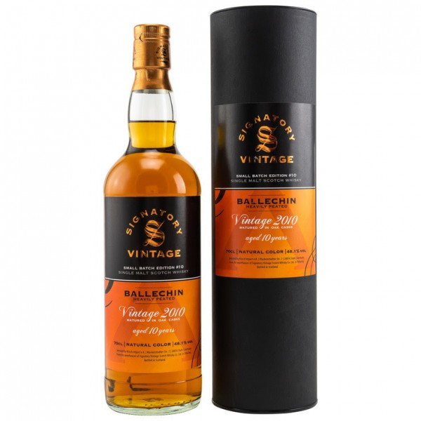Ballechin 2010/2020 10y 48,1 %Vol Heavily Peated Signatory Small Batch #10 Selected by Kirsch