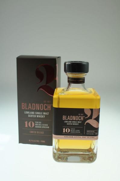 """Bladnoch """"Ten"""", 10 46,7 % aus den besten Bourbon Casks der Jahre 2007 und 2008"""