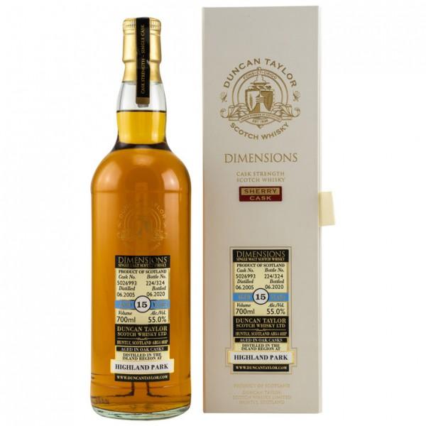 Highland Park 2005/2020 Duncan Taylor: Dimensions 55 %Vol 324 bottles