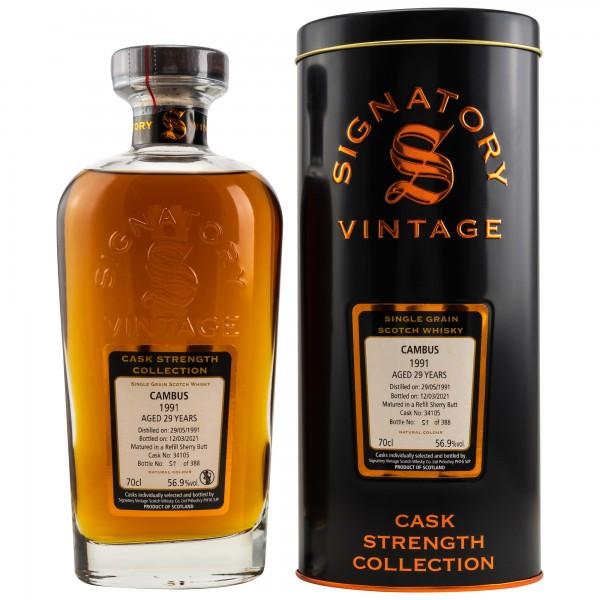 SIGNATORY Cambus 1991 2021 29y refill Sherry Cask 56,9 %Vol lost distillery