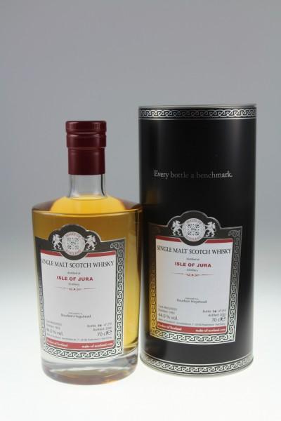 Malts of Scotland Isle of Jura 1992 Bourbon Hogshead 44.0 %Vol 210 Bottles