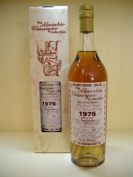 "ALAMBIC CLASSIQUE Invergordon ""refill Bourbon Barrel"" 1975 45 y Single Cask Grain 52,7 %Vol"