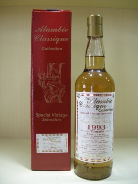 "Alambic Classique Tomatin ""Bourbon Barrel"" Jahrgang 1993, 23 years old, Highlands 51,6 %Vol"