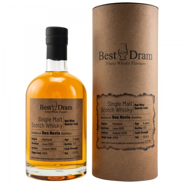 Best Dram Ben Nevis 5y Red Wine Quarter cask 57,9 %Vol