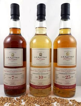 A.D.Rattray Tobermory Island Single Malt Scotch Whisky Exclusive for Germany Isle of Mull 25 Jahre Destilliert: 14.04.1994 Abgefüllt: 22.05.2019 Bourbon Hogshead 57,3% vol. 225 Flaschen