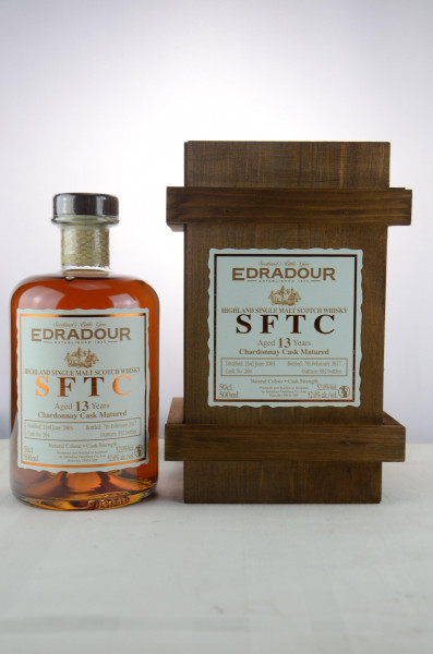 Edradour SFTC 13 y 2003/2017 Chardonnay Cask - 500ml Cask No. 264 52 %Vol 392 Bottles