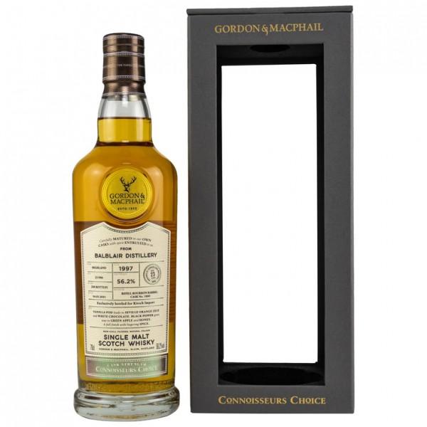 Balblair 1997/2021 Gordon & MacPhail Connoisseurs Choice 23y 56,2 %Vol refill Bourbon Barrel
