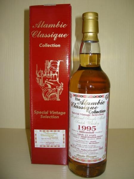 "Alambic Classique Miltonduff ""Small Bourbon Barrel"" 1995 23 y Speyside 48,5 %Vol"