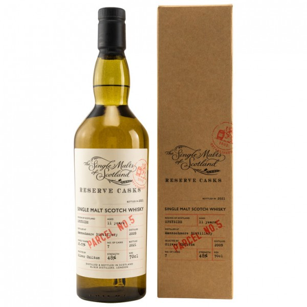 The Single Malts of Scotland Mannochmore 2009/2021 11 y 48 %Vol