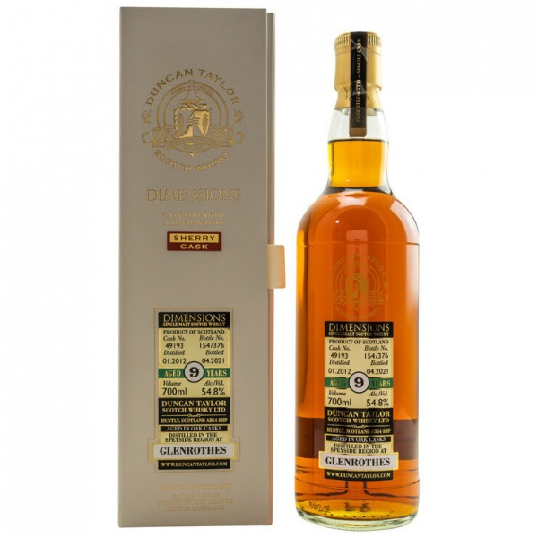 Duncan Taylor Glenrothes 2012/2021 9y 54,8 %Vol Sherry Cask Dimensions
