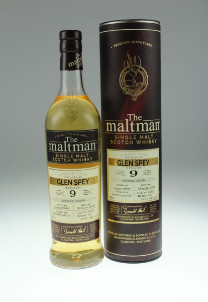 Maltman Glen Spey, 2009, 9 years old, 55,4%, Hogshead no. 804609