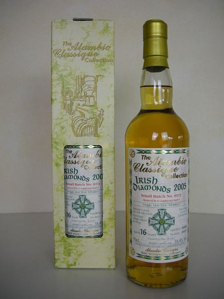 "Alambic Classique Irish Diamonds ""Batch No. 7/2"" ""Laphroaig Barrel"" 2005 16 y 58,4 %Vol"