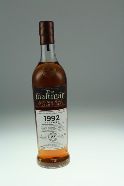 Maltman Blended Malt, 1992 Vintage, 27 y, 42,0 %Vol refill sherry butt