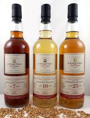 A.D.Rattray Knockdhu Single Malt Scotch Whisky Exclusive for Germany 10 Jahre Destilliert: 06.05.2009 Abgefüllt: 27.09.2019 Fasstyp: Fresh Bourbon Barrel Fassnummer: 700306 56,3% vol. 203 Flaschen