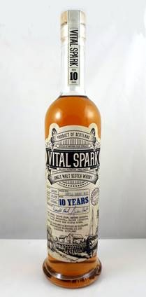 VITAL SPARK, heavily peated & sherried Single Malt, 10 Jahre, 53,5 % vol., 0,5 l. 1891 Flaschen