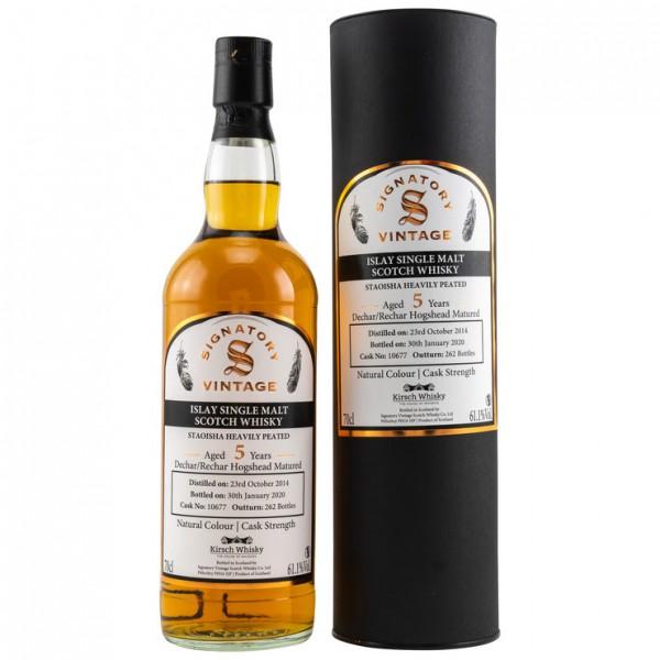 Bunnahabhain Staoisha 2014/2020 Signatory 5 Jahre Dechar/Rechar Hogshead Fassnr.10677 262 Flaschen
