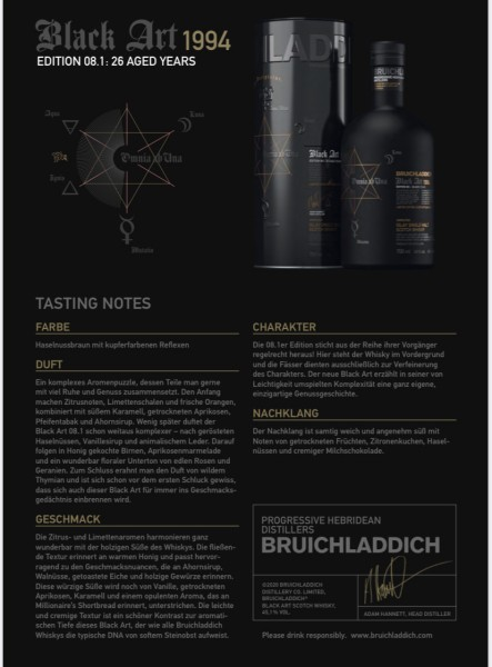 Bruichladdich Black Art Edition 08.1 26y. 45,1 %Vol