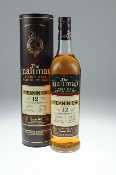 Maltman Teaninich, 2008, 12 years old, 51,6%, refill sherry butt no. 1629