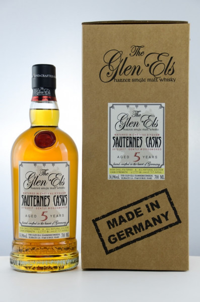 Glen Els Five Sauternes Casks Gently Woodsmoked 5y 56%Vol