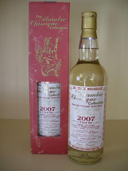 """Alambic Classique Caol Ila """"Refill Bourbon Cask"""" Jahrgang 2007 10 years old Islay North Shore 51,9 %Vol (Whisky)Zurück Zurücksetzen Löschen Kopieren Speichern Speichern und weiter bearbeiten"""