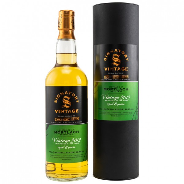 Mortlach 8 y 59,9 %Vol 2012/2020 Signatory Small Batch Cask Strength Edition #1 Selected by Kirsch