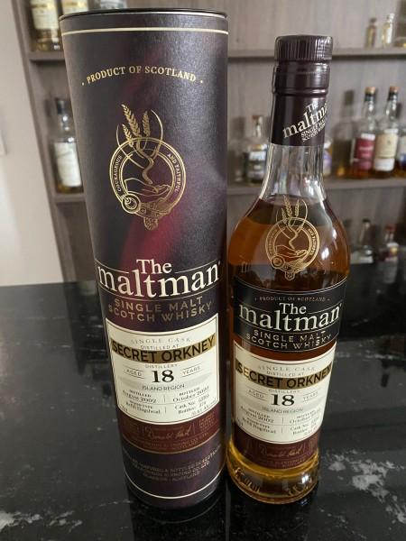 Maltman Secret Orkney 18y 51,4 %Vol Refill Hogshead