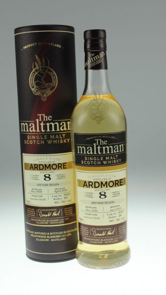 Maltman Ardmore, 2010, 8 years old, 46,0%, Amarone finish, cask no. 801439