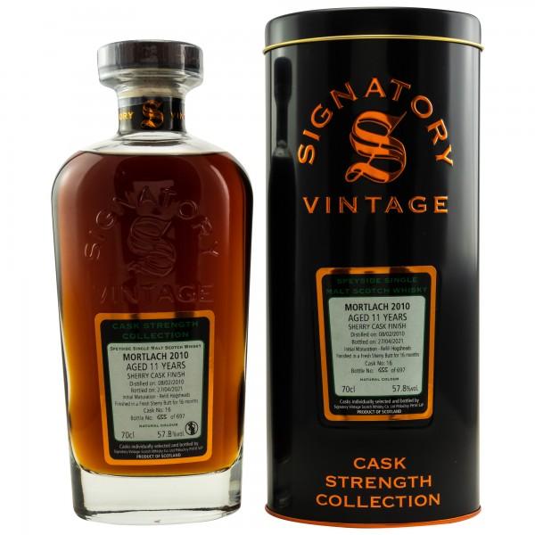 Signatory Mortlach 2010/21 11y 57,8%Vol Sherry Butt Finish 697 Flaschen