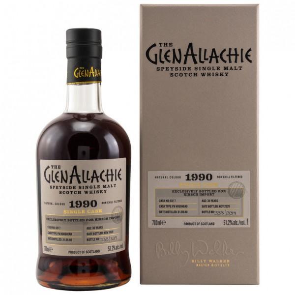 GlenAllachie Single Casks PX Hogshead 1990/2020 bottled for Kirsch 30 y 51,2 %Vol